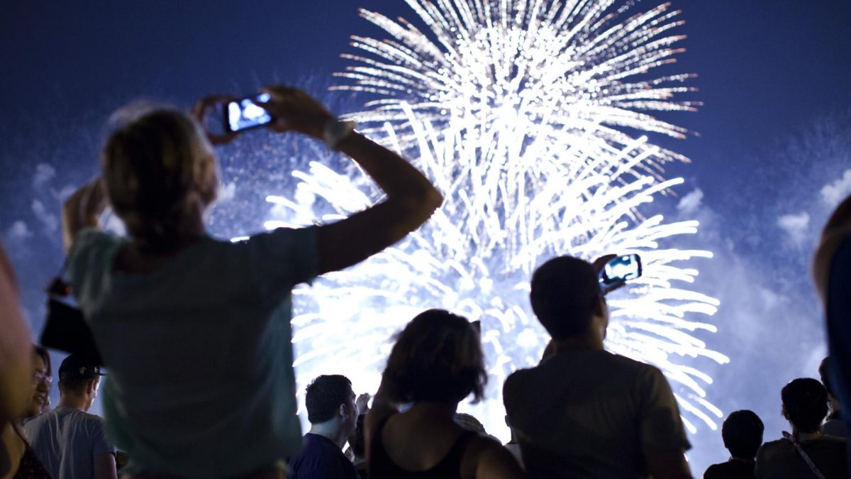 Fireworks Light Up Skies