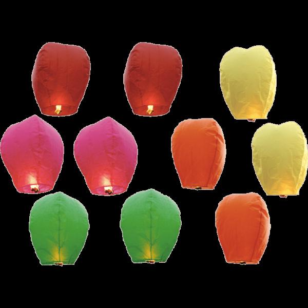 10 pk color lantern