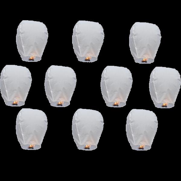 10 pk white lantern